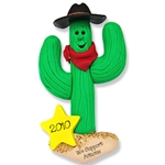 Cactus Cowboy<br>Personalized Ornament
