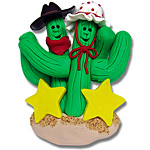 Cactus Family of 2<br>Personalized Ornament