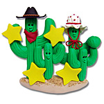 Cactus Family of 4<br>Personalized Ornament