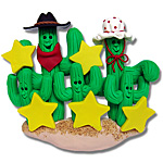 Cactus Family of 5<br>Personalized Ornament