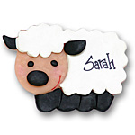 White &amp; Black Sheep<br>Personalized Ornament