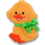 Baby Duck w/Green Bow<br>Personalized Easter Ornament