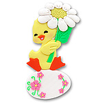 Baby Duck w/Daisy & Egg Personalized Ornament