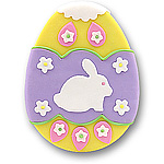 Lavender Easter Egg Personalized Easter Ornament
