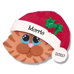 Orange Tabby Cat Face w/Orange Muzzle Personalized Cat Ornament - Limited Edition