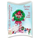Z-NEW Whizzo Personalized Elf Ornament in Custom Gift Box