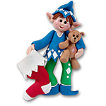 Whazzup<br>Personalized Elf Ornament