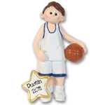 Boy Basketball Player-Male RESIN Personalized Ornament