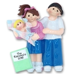 RESIN<br>Giggle Gang<br> New Parents - Family of 3<br>Personalized Ornament