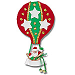 Hot Air Balloon w/3 Stars Personalized Family Ornament