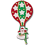 Hot Air Balloon w/7 Stars Personalized Family Ornament