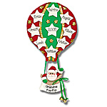 Hot Air Balloon w/9 Stars Personalized Family Ornament