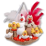 Half Baked Hen<br>Family of 5<br>Family Ornament