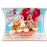Half Baked Hen Family of 7 Family Ornament in Gift Box - Limited Edition