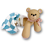 Crawling Bear w/Blanket<br>Personalized Baby Ornament