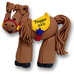 Cowboy's Horse<br>Personalized Ornament