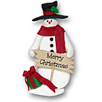 Snowman w/Sign<br>Personalized Ornament