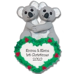 Koala Bear Couple  Personalized Christmas Ornament - Limited Edition
