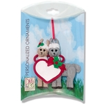 Christmas Llama Couple  Personalized Christmas Ornament in Custom Gift Box