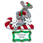 Merry Mouse Couple<br>Personalized Couples<br>Ornament
