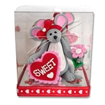 Merry Mouse Sweetheart Girl Valentine Figurine in Gift Box