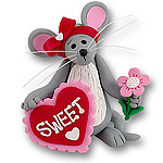 Merry Mouse Sweetheart<br>Girl Figurine