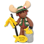 Mortimer Moose Fisherman Personalized Ornament Limited Edition