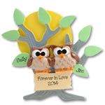 Owl Family of 2<br>Couples Ornament