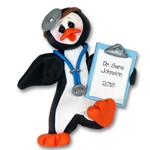 Petey Penguin Doctor Personalized Ornament Limited Edition