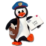 Petey Penguin Mailman Personalized Ornament Custom Ornament
