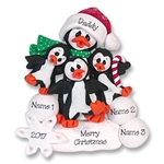 Petey &amp; Polly Penguin<br>Single Parent/Grandparent<br>Ornament -2 Kids<br>Limited Edition
