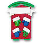 Sled w/4 Mittens<br>Personalized Family Ornament