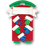 Sled w/5 Mittens<br>Personalized Family Ornament