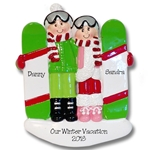 Snowboard Couple Personalied Couples Ornament-RESIN