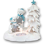 Polar Bear Couple<br>Tea Light<br>Candle