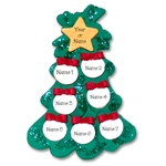 Christmas Tree w/7 Ornaments for a Family of 7 Personalized Ornament - Limited Edition