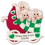 Triplets Baby's 1st Christmas Ornament  Limited Edition