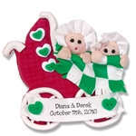 Twins Baby's 1st Christmas Ornament 2  Limited Edition