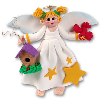 Angelina Angel<br>with Blonde Hair Personalized Christmas Ornament