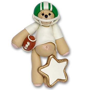 Green Football Belly Bear on SALE!