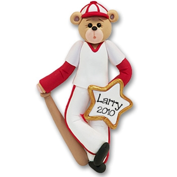 Baseball Belly Bear<br>Personalized Ornament<br>Limited Edition