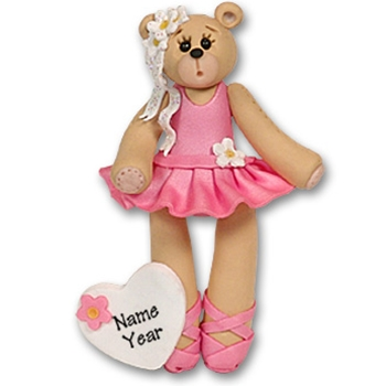 Ballerina Belly Bear<br>Personalized Ornament