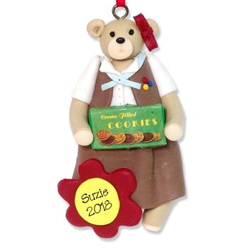 Belly Bear Brownette Personalized Ornament - SALE!