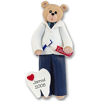 Belly Bear Dentist<br>Personalized Ornament