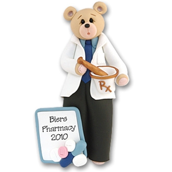 Pharmacist Belly Bear<br>Personalized Ornament