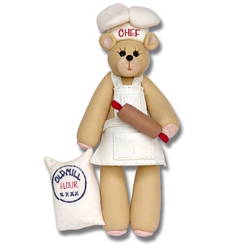 Belly Bear Chef<br>Personalized Ornament-ON SALE!