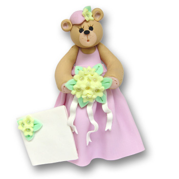 Belly Bear Bridesmaid<br>Personalized Wedding<br>Ornament