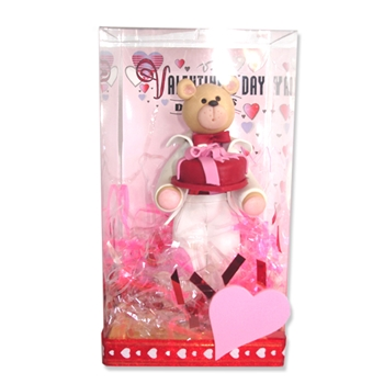Belly Bear Sweetheart Boy Valentine Figurine in Gift Box
