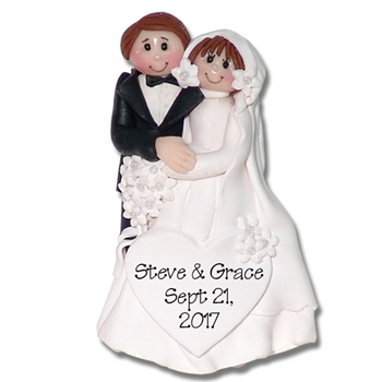 Bride & Groom #10 Personalized Wedding Ornament in Custom Gift Box