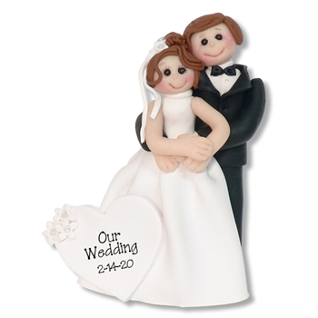 Bride & Groom #9 Personalized Wedding Ornament - Limited Edition